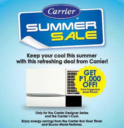 Carrier Summer Sale